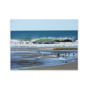 Beach Scene Outside Wall Art Panel On Aluminium