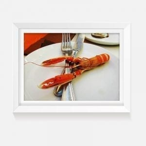 Indoor art artwork prawn print canvas
