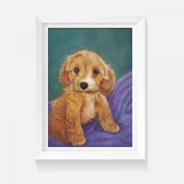 Indoor art artwork puppy