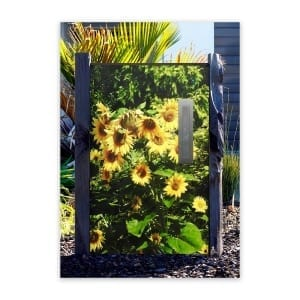 Sunflower Custom Design Letterbox